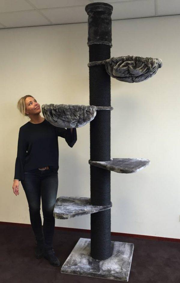 ZOOSHOP.ONLINE - Zoopreču internetveikals - Kaķu koks Maine Coon tornis Melnā līnija (antracīts)Cat Tree Maine Coon Tower Blackline Anthracite