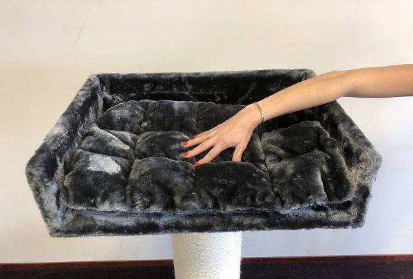 ZOOSHOP.ONLINE - Интернет-магазин зоотоваров - Когтеточка для гостинной (темно-серый) Cat Tree Maine Coon Lounge Dark Grey
