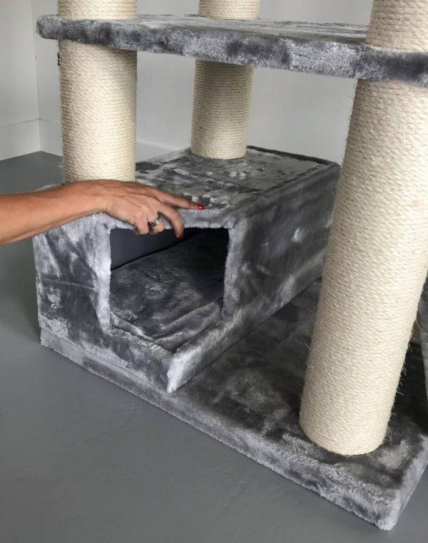 ZOOSHOP.ONLINE - Zoopreču internetveikals - Kaķu stūris Kun (gaiši pelēks).Cat Tree Corner Coon Light Grey