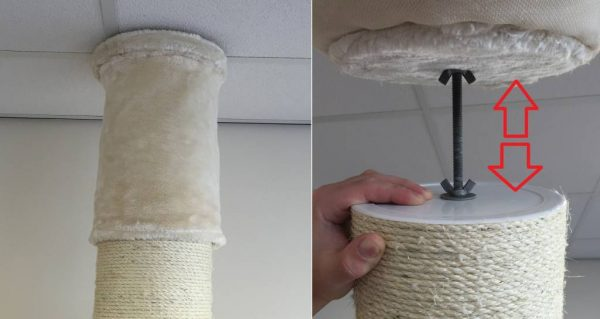 ZOOSHOP.ONLINE - Zoopreču internetveikals - Kaķu koks Maine Coon tornis Plus (krēmīgi balta). Cat Tree Maine Coon Tower PLUS Cream White