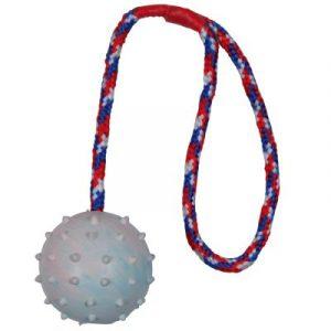 ZOOSHOP.ONLINE - Интернет-магазин зоотоваров - Trixie pезиновая игрушка с веревкой для собак