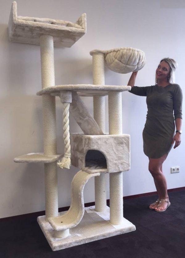 ZOOSHOP.ONLINE - Zoopreču internetveikals - Kaķu māja kilimandžāro de luxe (krēms). Cat Tree Kilimandjaro de Luxe Cream