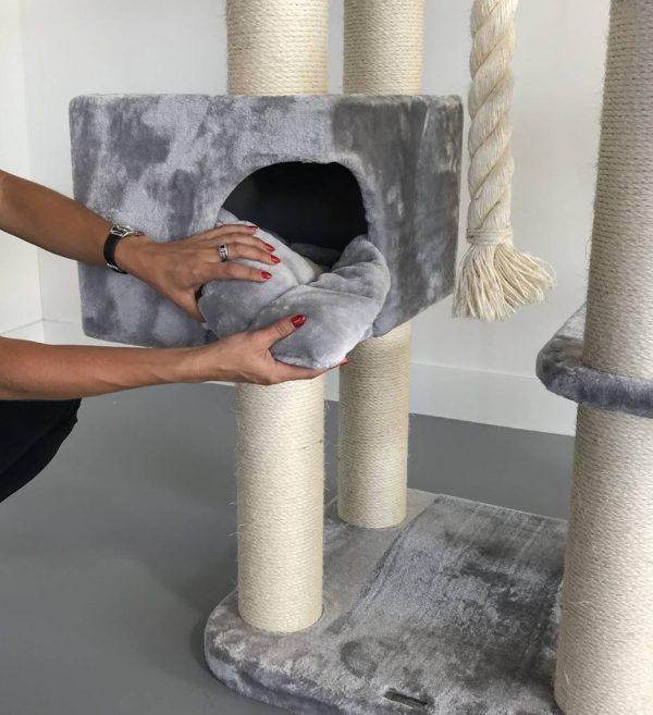 ZOOSHOP.ONLINE - Интернет-магазин зоотоваров - Кошачье дерево Мечта Де Люкс (светло-серый). Cat Tree Catdream de Luxe Light Grey