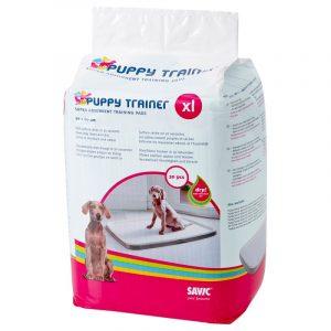 ZOOSHOP.ONLINE - Zoopreču internetveikals - Savic Puppy Trainer higiēniskie paladziņi suņiem XL 90 x 60cm 30gb