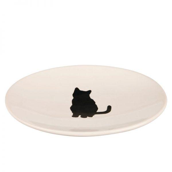 ZOOSHOP.ONLINE - Интернет-магазин зоотоваров - Trixie керамическая тарелка с рисунком кошки