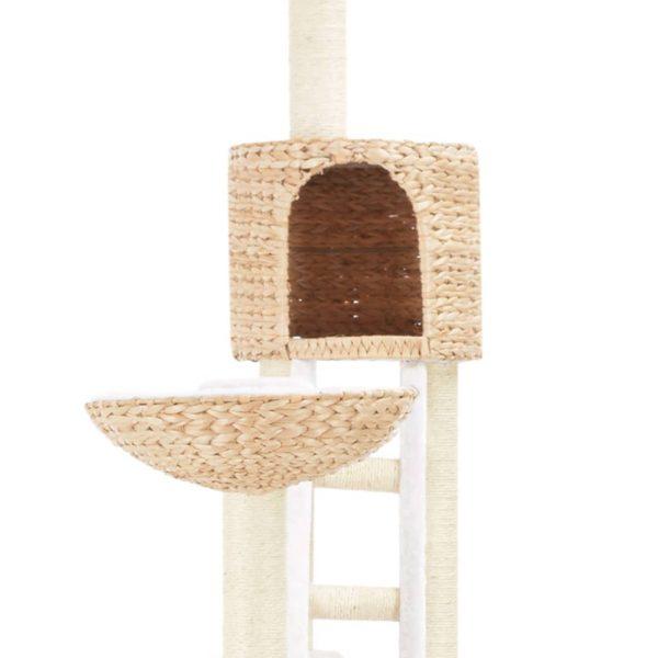 ZOOSHOP.ONLINE - Zoopreču internetveikals - Kaķu skrāpis-mājiņa no ūdens hiacintes 258cm