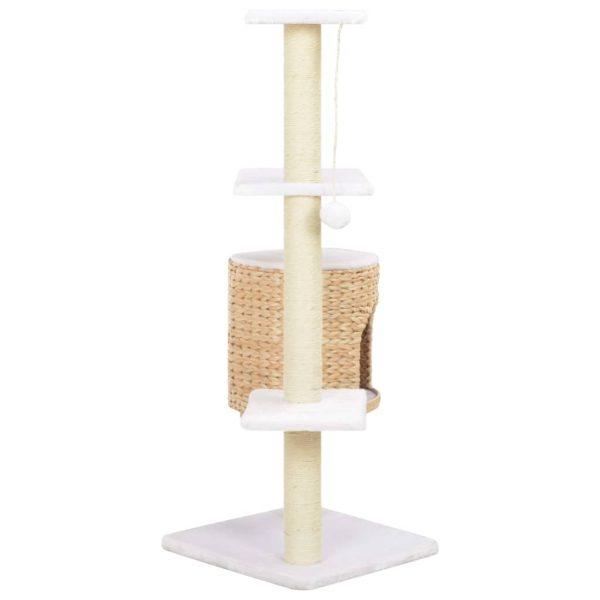 ZOOSHOP.ONLINE - Zoopreču internetveikals - Kaķu skrāpis-mājiņa no ūdens hiacintes 107cm