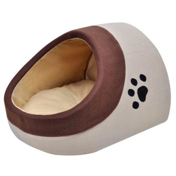 ZOOSHOP.ONLINE - Интернет-магазин зоотоваров - Лежанка-домик для кошек и собачек XL - 40 х 45 х 34 см, бежевая