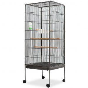 ZOOSHOP.ONLINE - Интернет-магазин зоотоваров - Клетка для птиц-54 х 54 х 146 см (Серая)