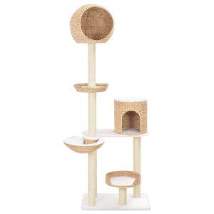 ZOOSHOP.ONLINE - Zoopreču internetveikals - Kaķu skrāpis-mājiņa no ūdens hiacintes 180cm