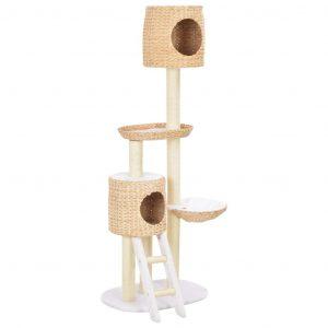 ZOOSHOP.ONLINE - Zoopreču internetveikals - Kaķu skrāpis-mājiņa no ūdens hiacintes 153cm