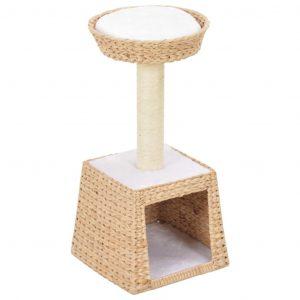 ZOOSHOP.ONLINE - Zoopreču internetveikals - Kaķu skrāpis-mājiņa no ūdens hiacintes 64cm