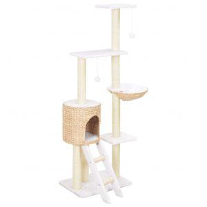 ZOOSHOP.ONLINE - Zoopreču internetveikals - Kaķu skrāpis-mājiņa no ūdens hiacintes 146cm