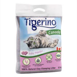 ZOOSHOP.ONLINE - Интернет-магазин зоотоваров - Наполнитель для кошачьего туалета Tigerino Canada 12 кг (аромат детской присыпки)