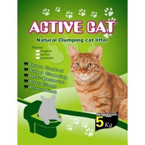 ZOOSHOP.ONLINE - Zoopreču internetveikals - Cementējošās smiltis kaķu tualeteiActive Cat 5kg