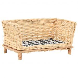 ZOOSHOP.ONLINE - Интернет-магазин зоотоваров - Плетёный диван-корзина для собак 50 х 33 х 35 см