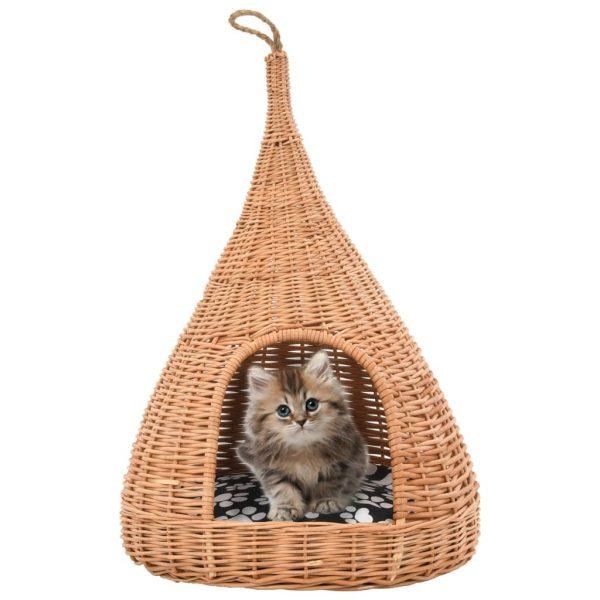 ZOOSHOP.ONLINE - Интернет-магазин зоотоваров - Лежанка для кошек из Ивы с подушкой 40 x 60 см