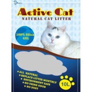 ZOOSHOP.ONLINE - Интернет-магазин зоотоваров - Active Cat 10l силикагелевый наполнитель для кошачьего туалета.
