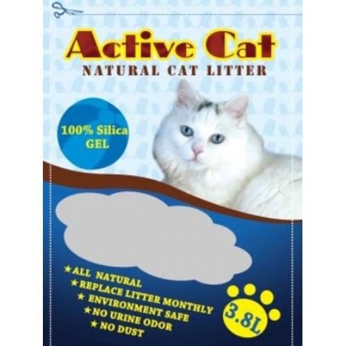 ZOOSHOP.ONLINE - Интернет-магазин зоотоваров - Active Cat 3,8l силикагелевый наполнитель для кошачьего туалета.