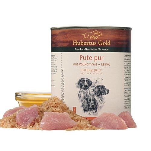 ZOOSHOP.ONLINE - Zoopreču internetveikals - Hubertus Gold Dog Adult Turkey pure & Rice 6 x 800g