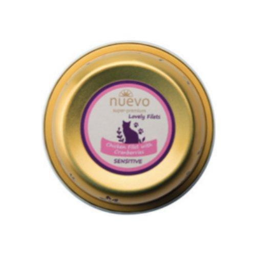 ZOOSHOP.ONLINE - Интернет-магазин зоотоваров - Nuevo Sensitive Cat Adult Chicken Filet Granberries 85g