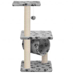 ZOOSHOP.ONLINE - Zoopreču internetveikals - Māja kaķiem 65 cm, pelēka ar rakstu