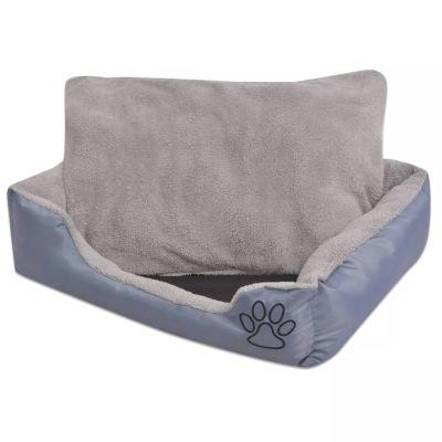 ZOOSHOP.ONLINE - Интернет-магазин зоотоваров - Кровать для собаки с мягкой подушкой, серая