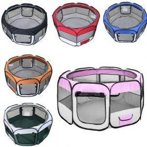 ZOOSHOP.ONLINE - Zoopreču internetveikals - Manēža saliekama suņiem, trušiem un kaķēniem ,brezenta materiāls ar noņemamu grīdu - 6 krāsas