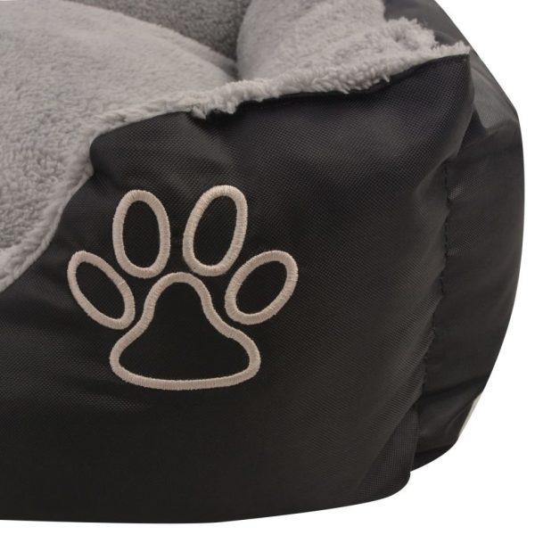ZOOSHOP.ONLINE - Zoopreču internetveikals - Gulta sunim ar mīkstu spilvenu, melnā
