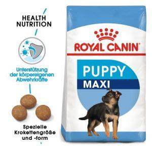 ZOOSHOP.ONLINE - Zoopreču internetveikals - Sausa barība kucēniem Royal Canin Maxi 15kg.