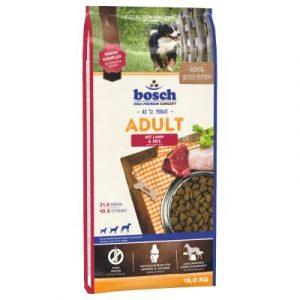 ZOOSHOP.ONLINE - Zoopreču internetveikals - Sausa suņu barība bosch Adult Lamm & Reis 15kg.