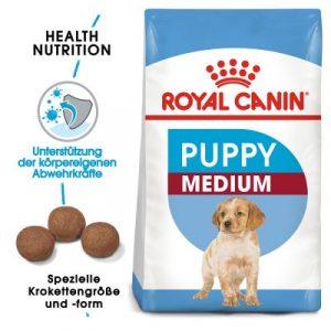 ZOOSHOP.ONLINE - Zoopreču internetveikals - Sausa barība kucēniem Royal Canin Medium  15kg.