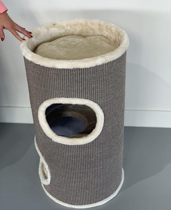 ZOOSHOP.ONLINE - Zoopreču internetveikals - Kaķu māja Muca (krēms). 0428 Cat Tree Coony 80 Cream