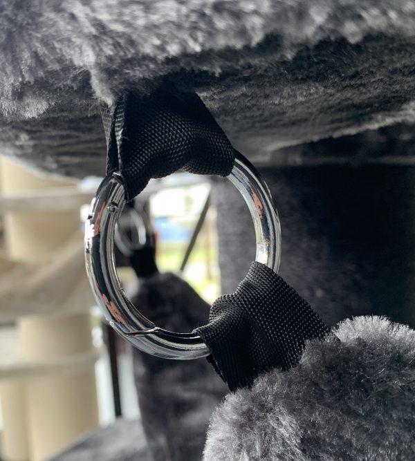 ZOOSHOP.ONLINE - Интернет-магазин зоотоваров - Кошачье дерево Королевская Kорона Черная линия (тёмно-серый). Cat Tree Royalty Crown Blackline Dark Grey