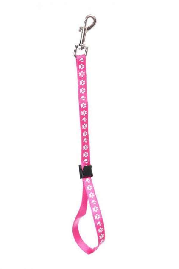 ZOOSHOP.ONLINE - Интернет-магазин зоотоваров - Нейлоновая петля для удержания собаки Amoz Pro 1.5 см / 40 см розовая