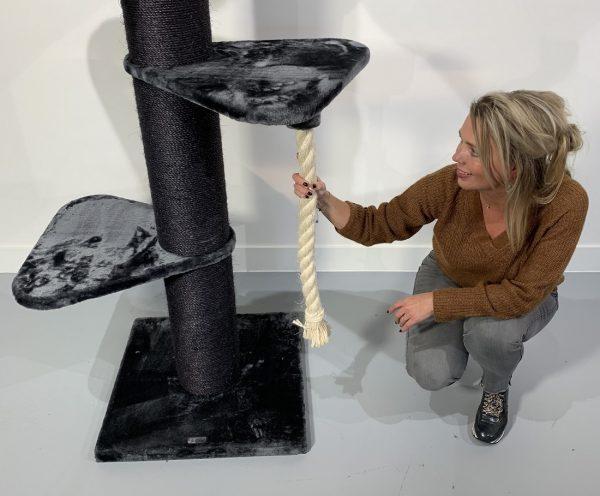ZOOSHOP.ONLINE - Интернет-магазин зоотоваров - Кошачье дерево Мейн кун Башня-Корона черная линия (темно-серый).Cat Tree Maine Coon Tower Crown Blackline Dark Grey