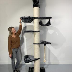 ZOOSHOP.ONLINE - Zoopreču internetveikals - Kaķu koks Maine Coon Tornis-Kronis (tumši pelēka).Cat Tree Maine Coon Tower Crown Dark Grey