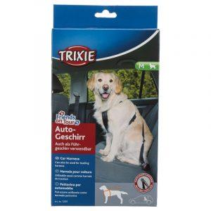 ZOOSHOP.ONLINE - Zoopreču internetveikals - Drošības siksna pārvadāšanai Trixie Friends on Tour vidējo šķirņu suņiem 50-70 cm