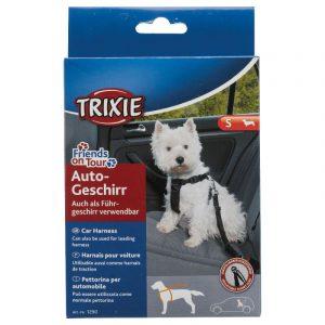 ZOOSHOP.ONLINE - Zoopreču internetveikals - Drošības siksna pārvadāšanai Trixie Friends on Tour mazo šķirņu suņiem 30-60 cm