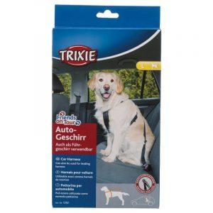 ZOOSHOP.ONLINE - Zoopreču internetveikals - Drošības siksna pārvadāšanai Trixie Friends on Tour lielo šķirņu suņiem 70-90 cm
