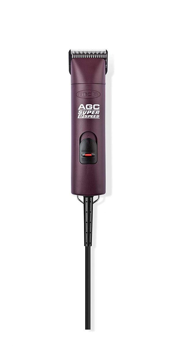 ZOOSHOP.ONLINE - Интернет-магазин зоотоваров - Машинка для груминга Andis AGC с 2 режимами (бордовый цвет)