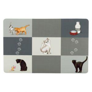 ZOOSHOP.ONLINE - Zoopreču internetveikals - Trixie silikona  paklājiņš zem bļodas šaha galdiņa stilā
