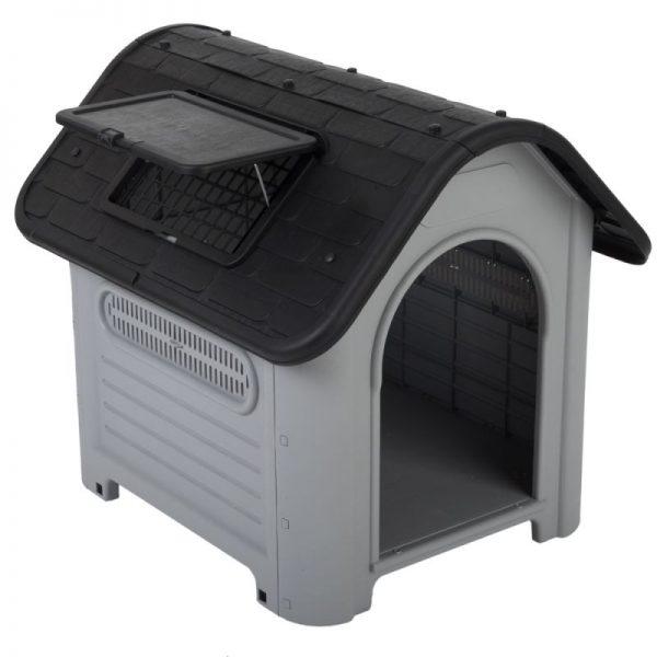ZOOSHOP.ONLINE - Интернет-магазин зоотоваров - Пластиковая будка для собак Polly 72 см x 87 см x 75 см