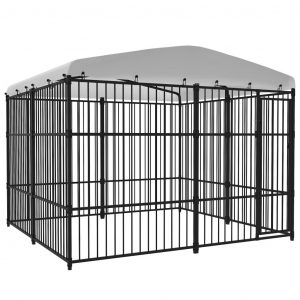 ZOOSHOP.ONLINE - Zoopreču internetveikals - Āra voljērs suņiem ar jumtu 3×3 м