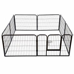 ZOOSHOP.ONLINE - Zoopreču internetveikals - Playpen Puppy metāla nožogojums – sēta suņiem, kucēniem 80 (A)