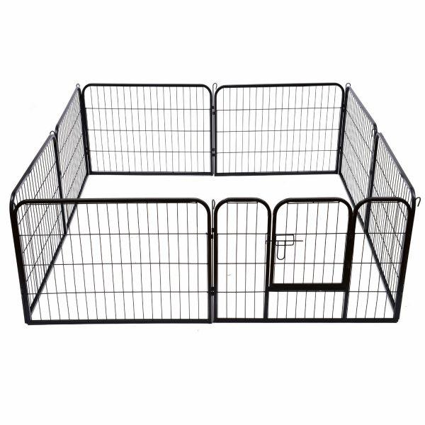 ZOOSHOP.ONLINE - Интернет-магазин зоотоваров - Playpen Puppy металлический загон — манеж для щенков,собак 80 (В) см