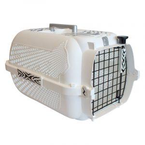 ZOOSHOP.ONLINE - Zoopreču internetveikals - Transportēšanas plastmasas boks Catit Tiger Voyageur 32 x 48 x 28 cm balta