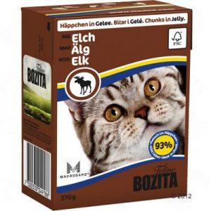 ZOOSHOP.ONLINE - Zoopreču internetveikals - Bozita kaķu konservi 370g Ziemeļbriedis želejā x 6
