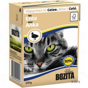 ZOOSHOP.ONLINE - Zoopreču internetveikals - Bozita kaķu konservi 370g pīle želejā x 6