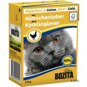 ZOOSHOP.ONLINE - Zoopreču internetveikals - Bozita kaķu konservi 370g vistu aknas želejā